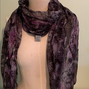 Black and purple snake print scarf
